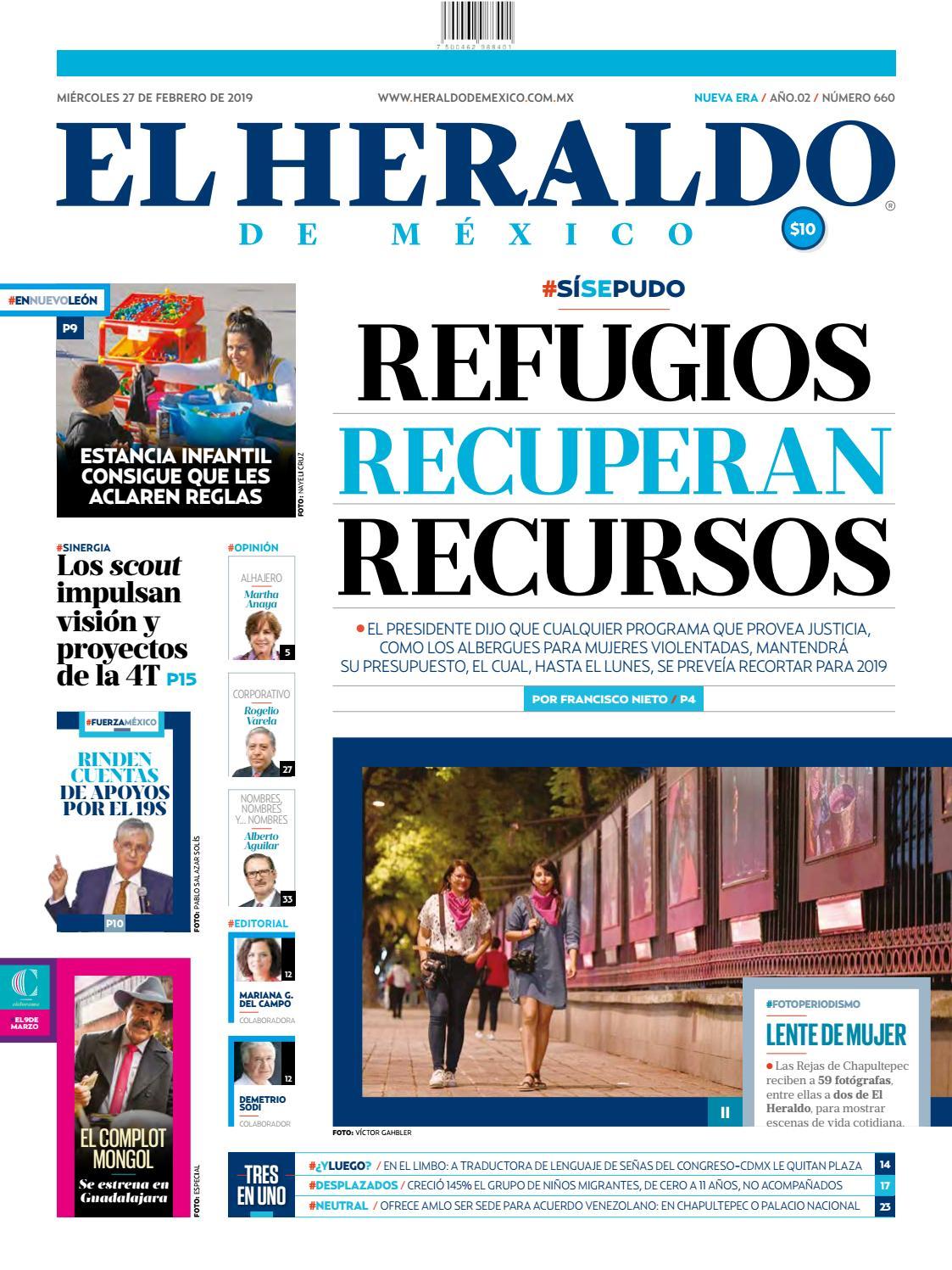 Miércoles 27 de febrero de 2019 by El Heraldo de México - issuu 153dedefc15e