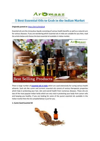 5 Best Essential Oils to Grab in the Indian Market by Aromaaz