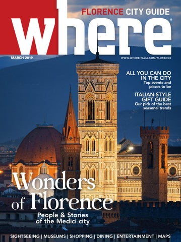 Where Florence N 9 March 2019 By Where Italia Issuu