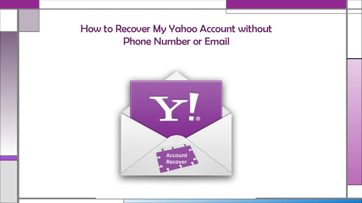 recover yahoo email account without phone number