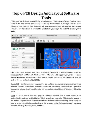 Top 6 Pcb Design And Layout Software Tools Miracle Electronics By Miracle Electronics Pvt Ltd Issuu