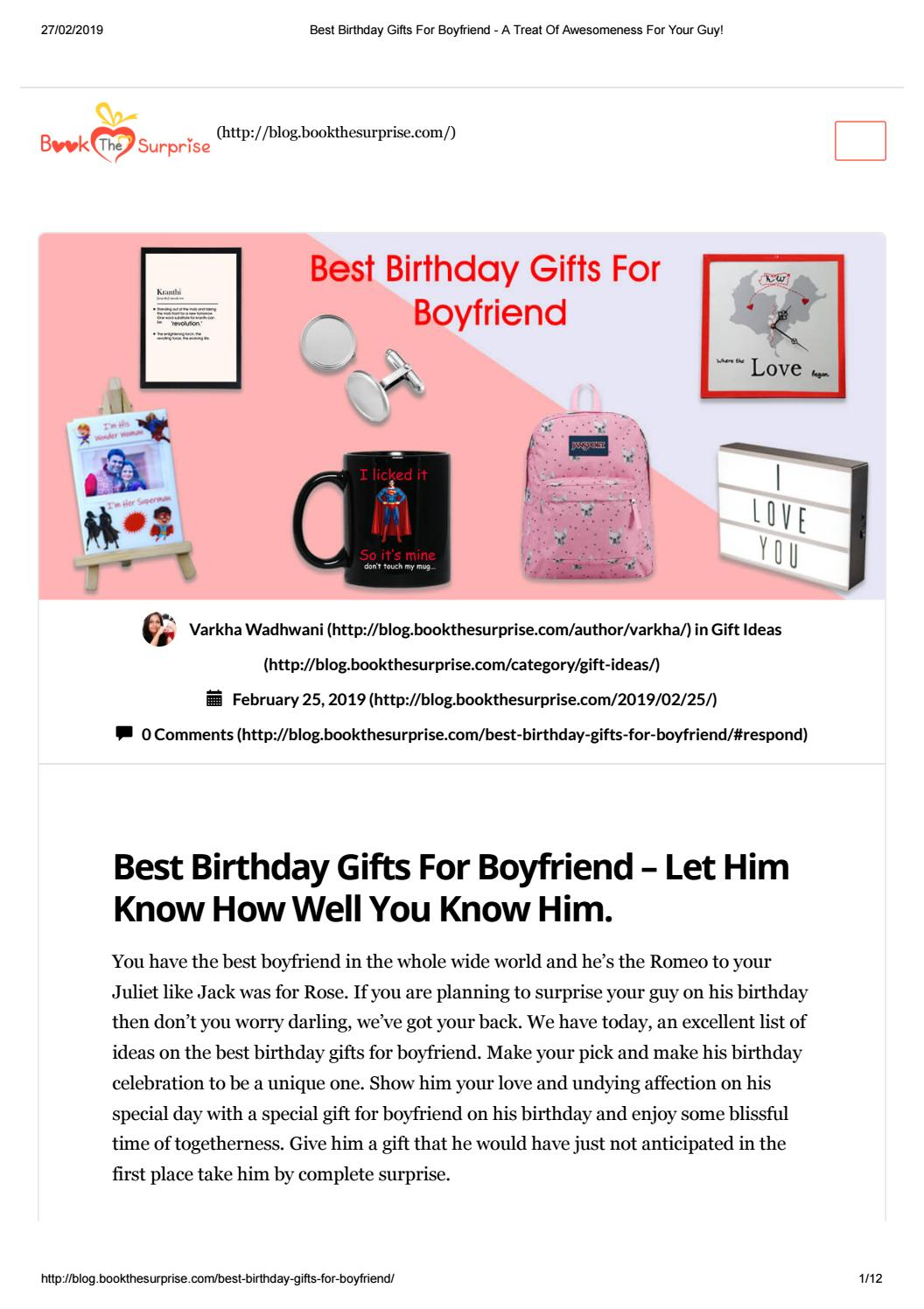 Best Birthday Gifts For Boyfriend A Treat Of Awesomeness For