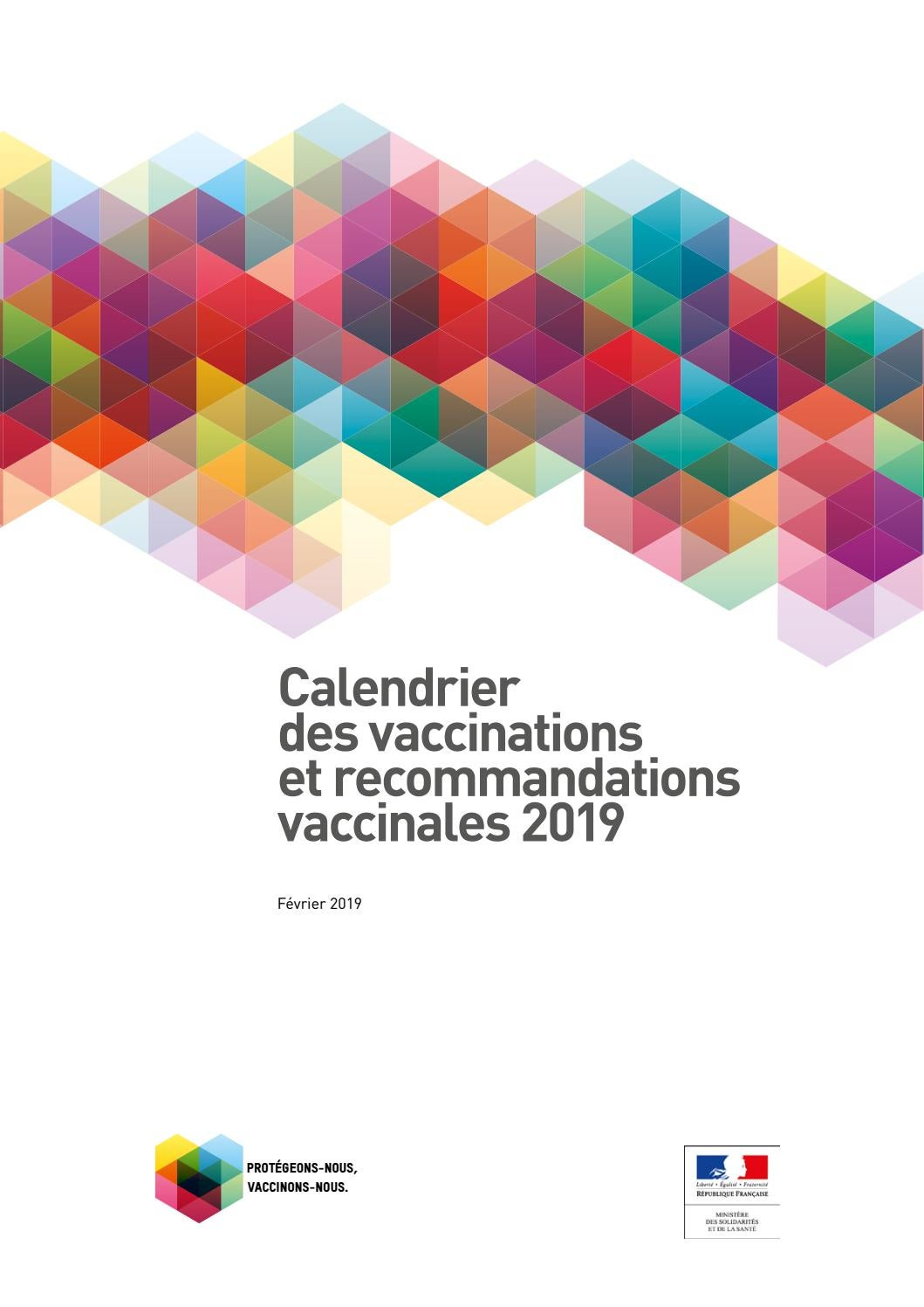 Calendrier Des Vaccinations Et Recommandations Vaccinales 2019.Calendrier Des Vaccinations Et Recommandations Vaccinales