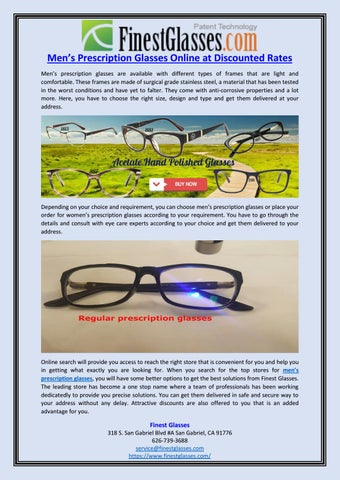 6ea1675296 Men s Prescription Glasses Online at Discounted Rates by Finest ...