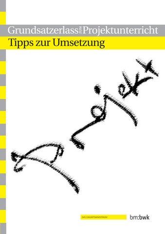 Grundsatzerlass Zum Projektunterricht By Arge Jugend Issuu