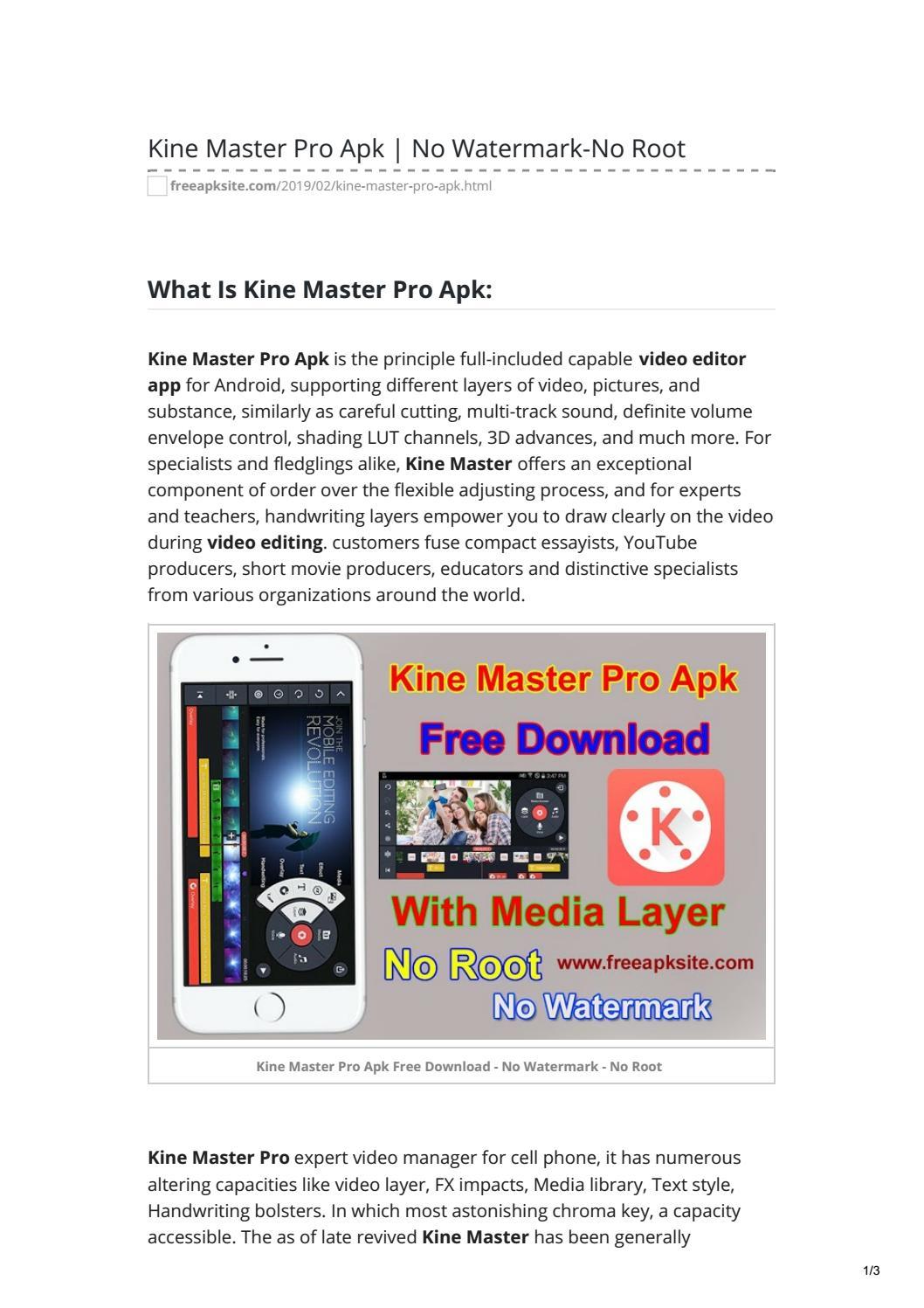 Kine Master Pro Apk No Watermark-No Root by Ghulam Mustafa