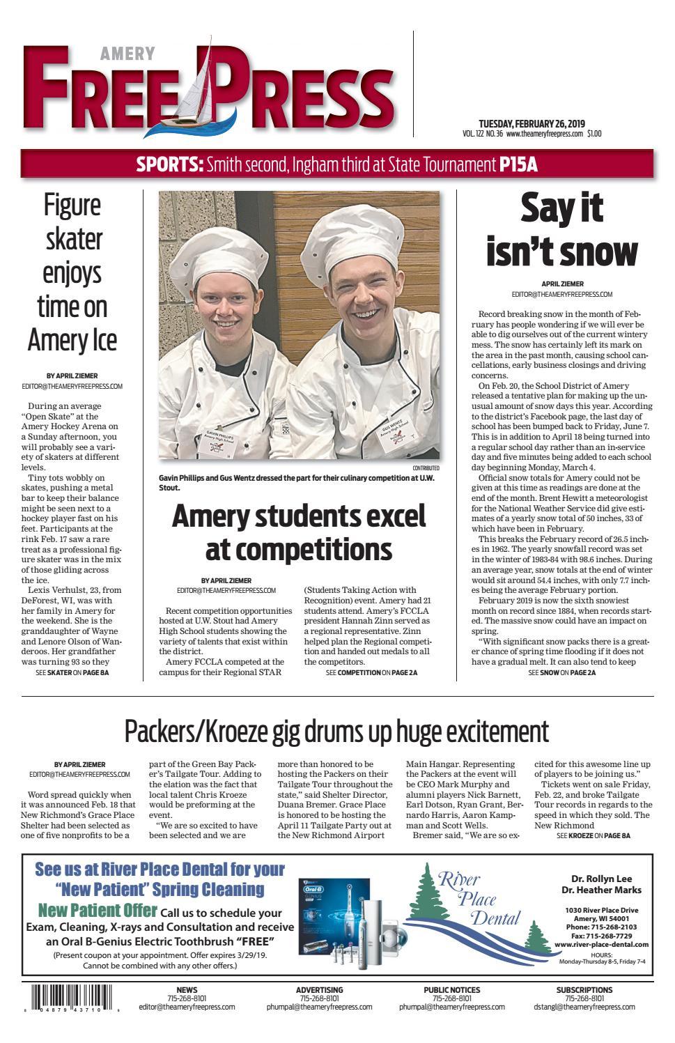 Amery Free Press February 26, 2019 by Amery Free Press - issuu
