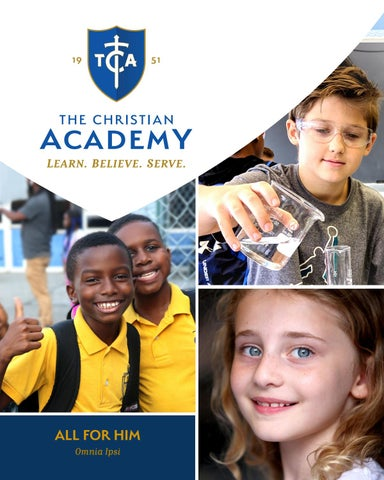 Page 1 of TCA's Admissions Viewbook