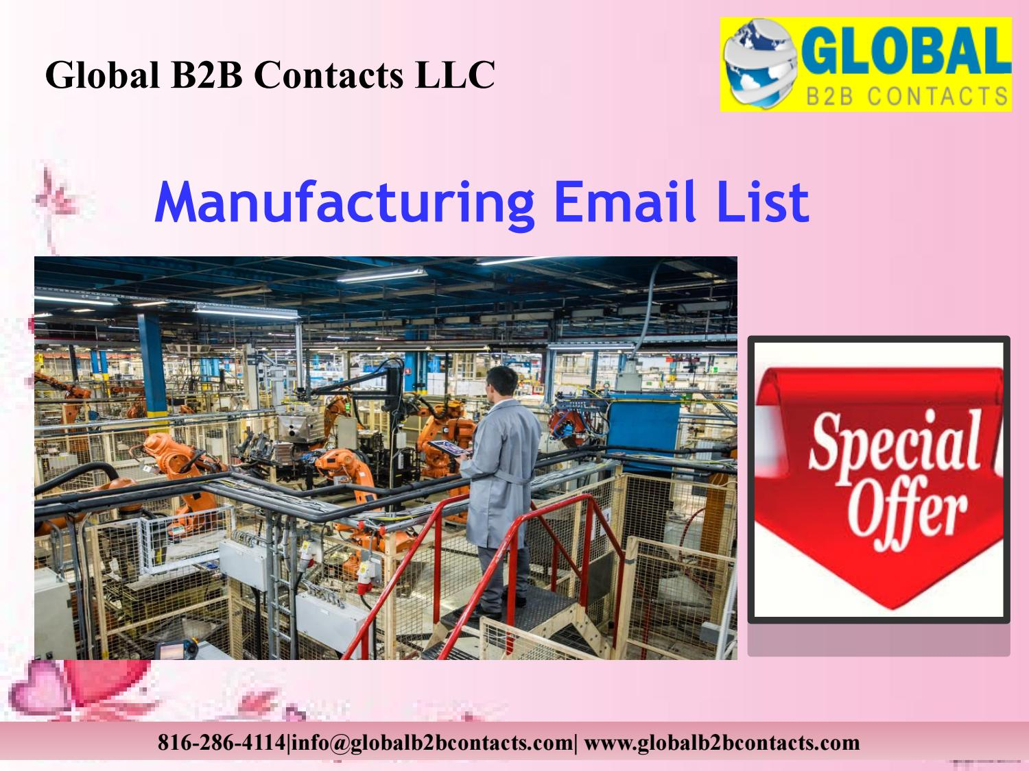 Manufacturing Email List by Shreey Ellen - issuu