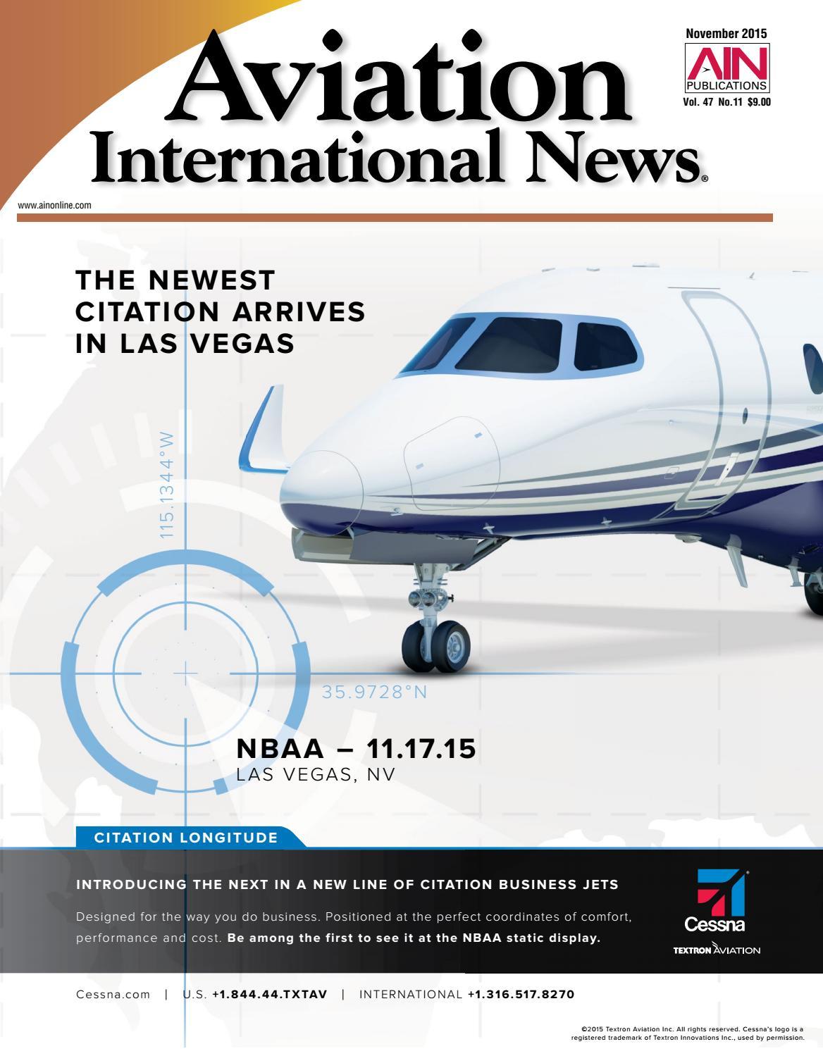 Aviation International News November 2015 by Aviation