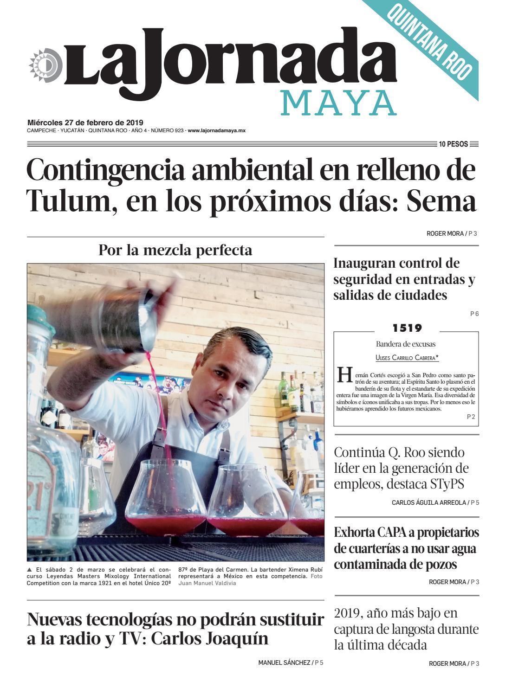 La Jornada Maya · miércoles 27 de febrero de 2019 by La Jornada Maya - issuu 64678c883a8