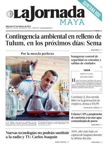 7fd1c163e3 La Jornada Maya · miércoles 27 de febrero de 2019 by La Jornada Maya ...
