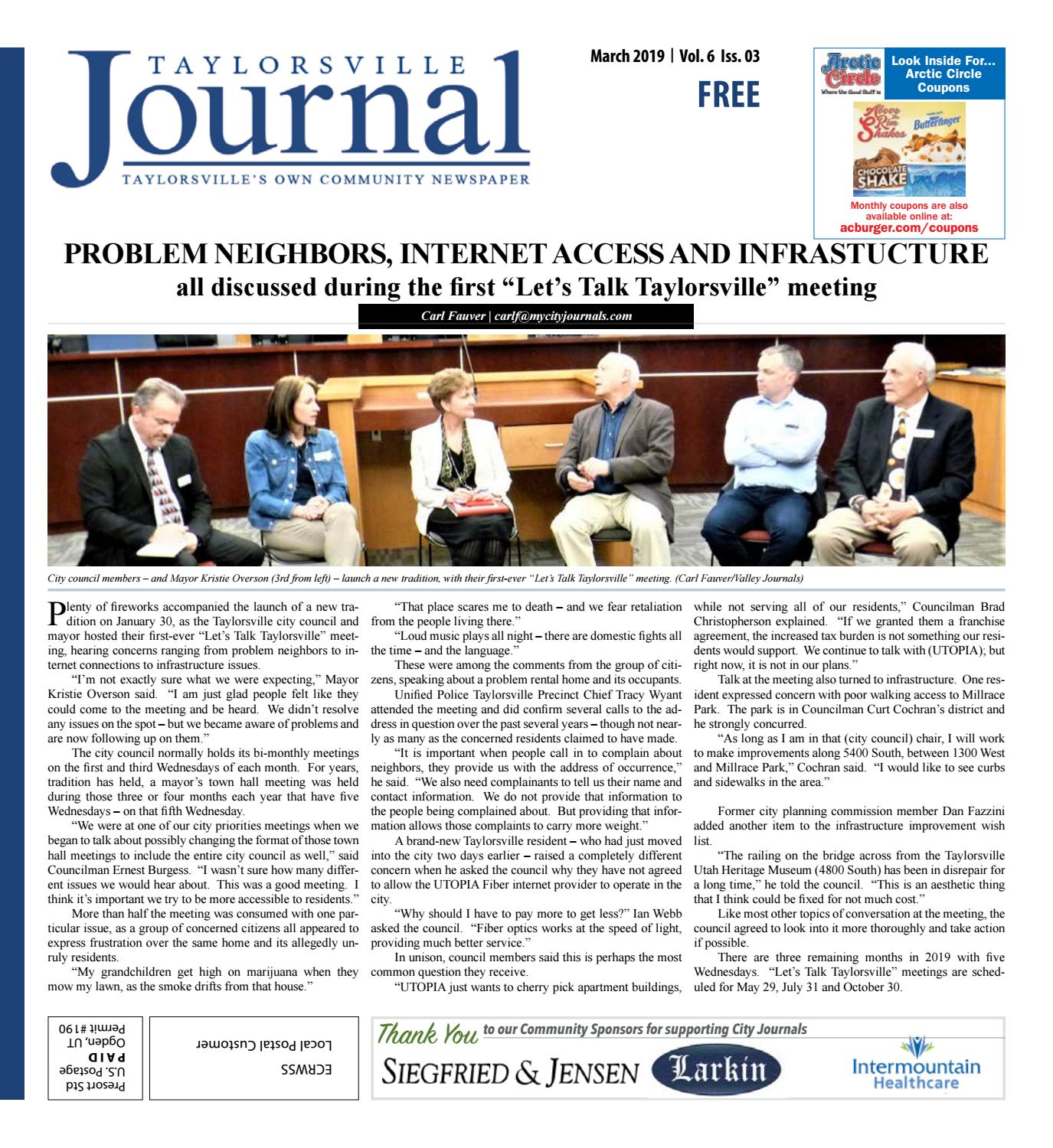 Taylorsville Journal March 2019 by The City Journals - issuu