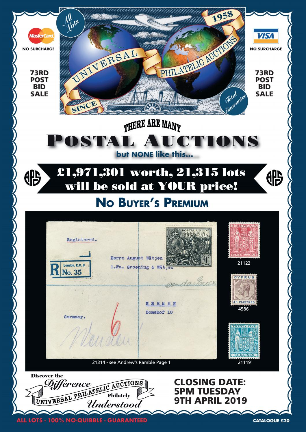 Universal Philatelic Auctions by ATGPark - issuu