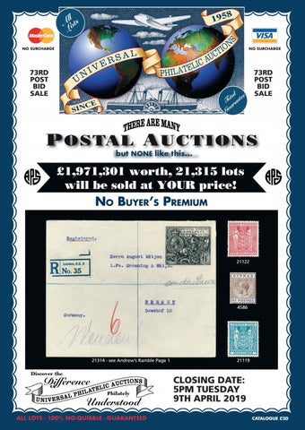 0cb00ef6d02 Universal Philatelic Auctions by ATGPark - issuu