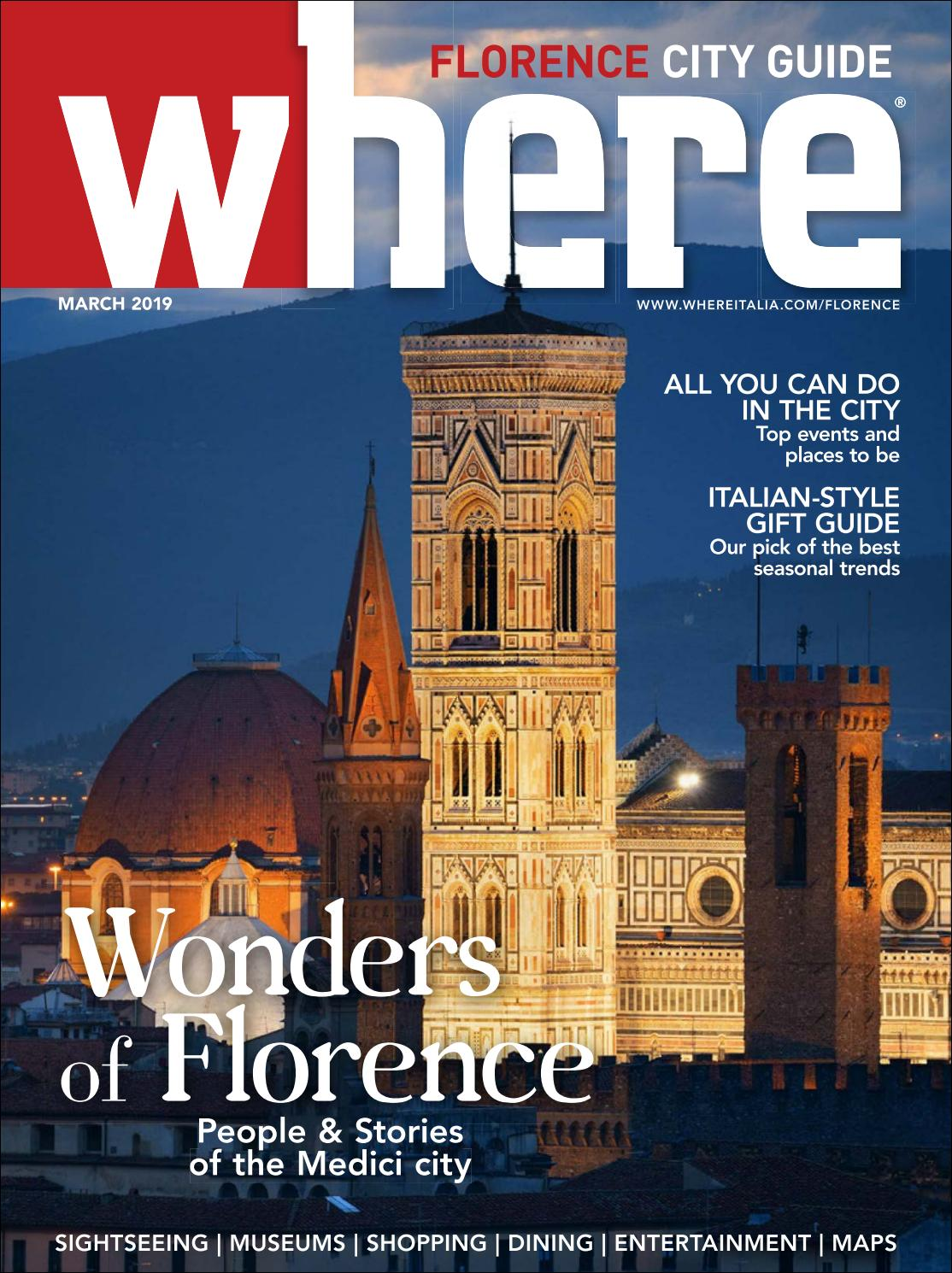 Where Magazine Florence Mar 2019 By Morris Media Network Issuu