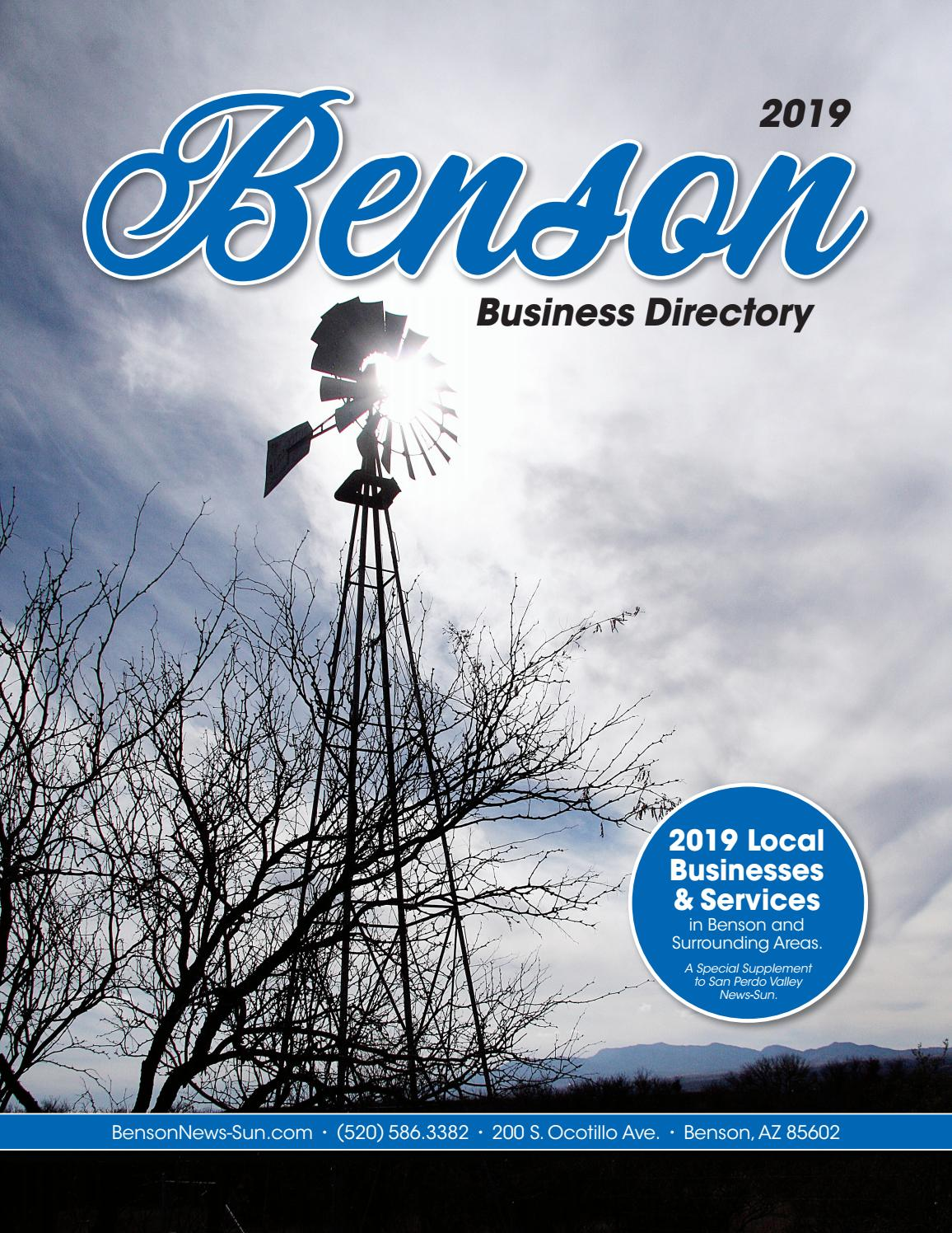 2019 Benson Business Directory by Wick Communications - issuu