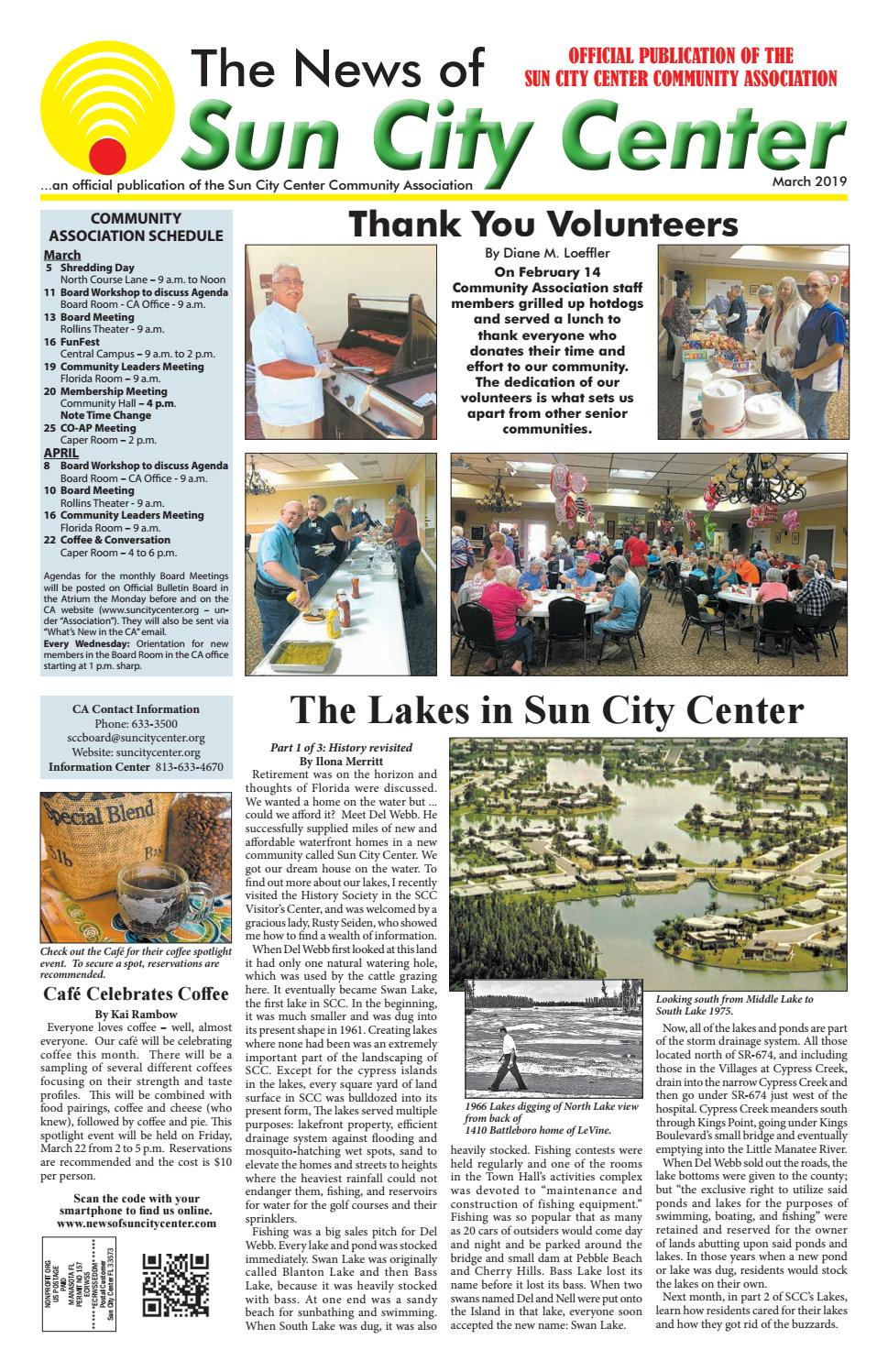 News of Sun City Center March 2019 by The News of Sun City Center