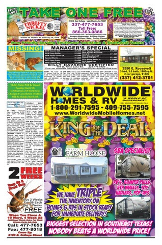 January 24, 2019 Edition of the Lake Charles Thrifty Nickel by ... on for rent mobile homes, rent to own mobile homes, platinum mobile homes, vintage mobile homes,