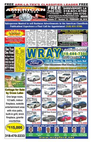 Shreveport American Classifieds 02-28-19 Edition by