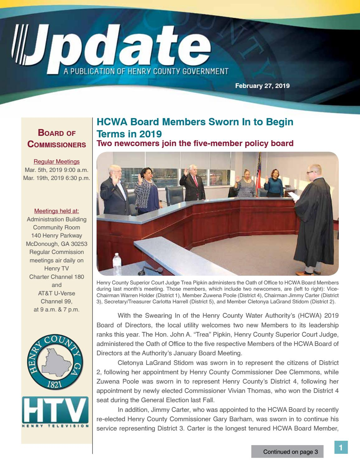 Henry County Update - Newsletter by Henry County Government