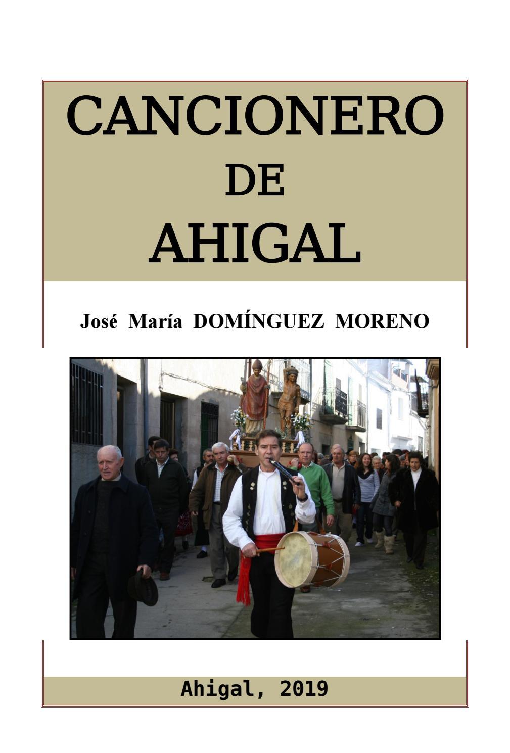 ef15245c0e Cancionero de Ahigal por José María Domínguez Moreno by Biblioteca Virtual  Extremeña - issuu