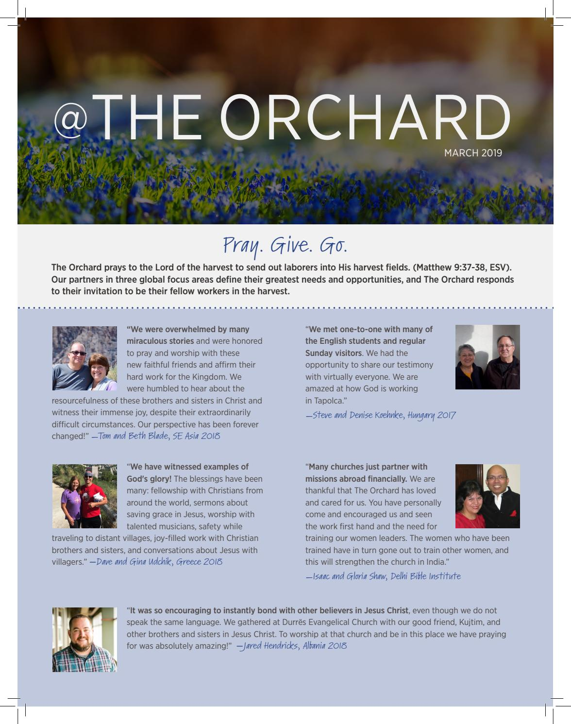 March 2019 @ The Orchard by theorchardefc8 - issuu