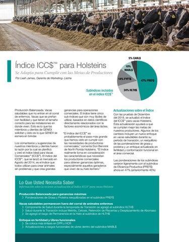 Page 6 of Índice ICC$™ para Holsteins Se Adapta para Cumplir con las Metas de Productores