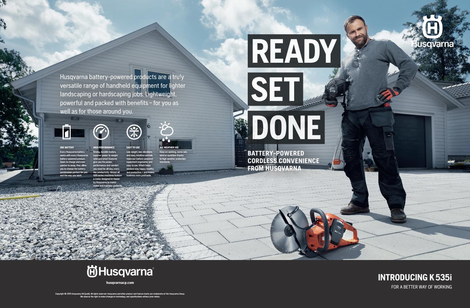 US) Husqvarna battery series by Husqvarna Construction