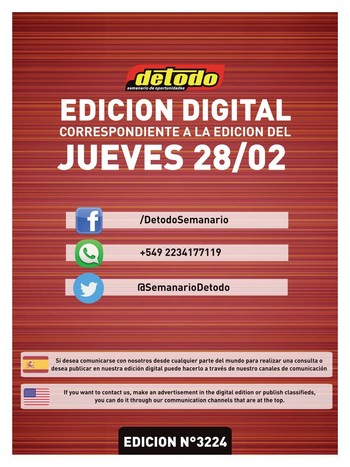 426afac53 Semanario Detodo - Edición N° 3224 - 28 02 2019 by Semanario Detodo - issuu