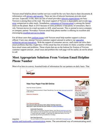 verizon Email helpline Phone Number by digitrends3 - issuu