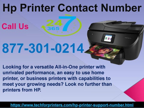 Superb Solution from Hp Printer Contact Number 877-301-0214