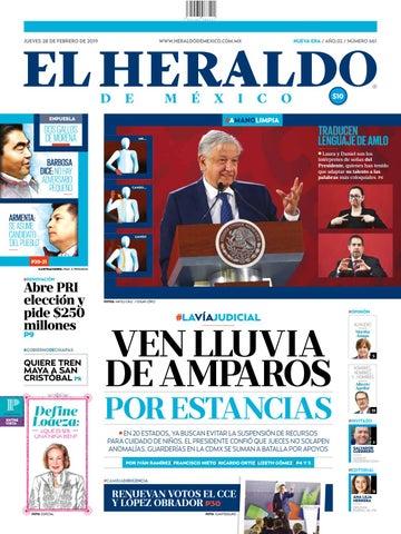 4f73388993 Jueves 28 de febrero de 2019 by El Heraldo de México - issuu