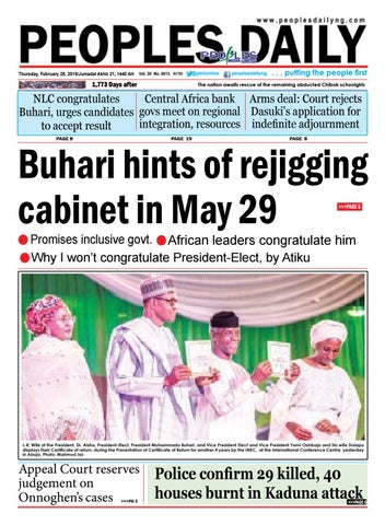 Monday, February 28, 2019 Edition by Peoples Media Limited