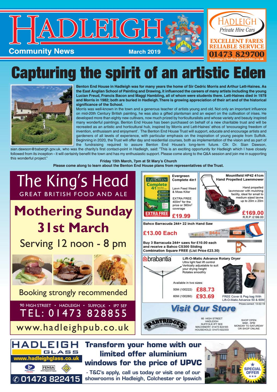 c578dfa1aa175 Hadleigh Community News, March 2019 by Keith Avis Printers - issuu