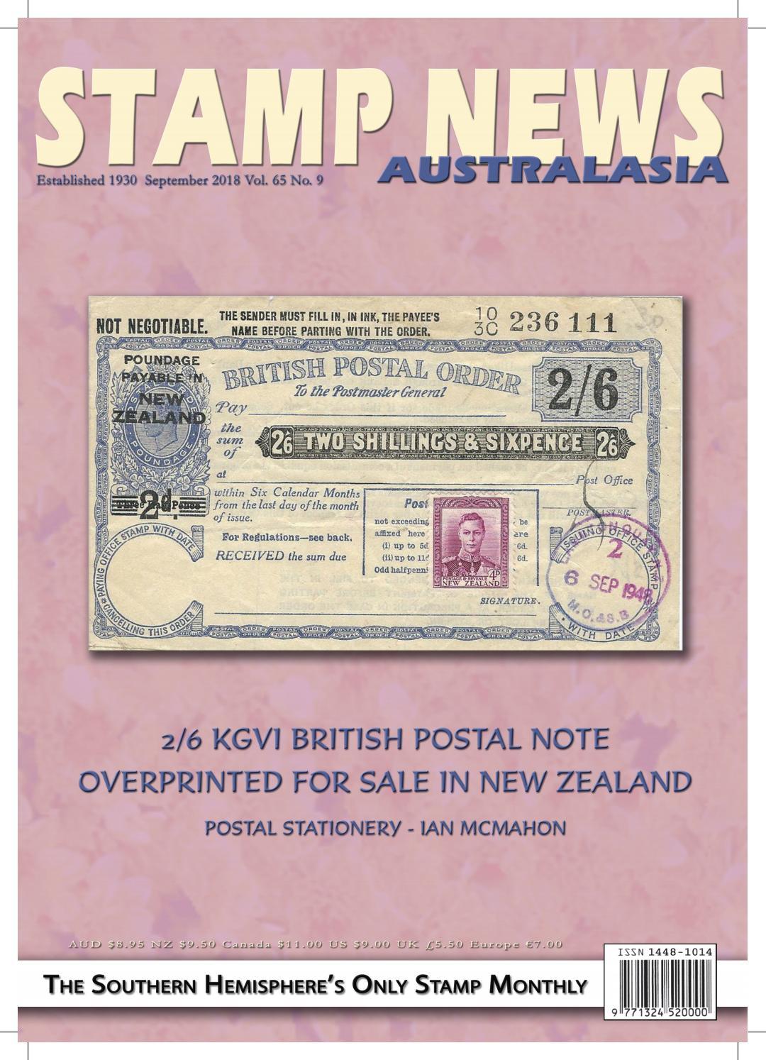 ac509db29652ef Stamp News Australasia - September 2018 by Stamp News Australasia - issuu