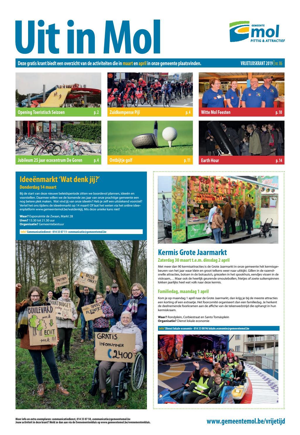 aa48b460f55 Activiteitenkrant Uit in Mol maart en april 2019 by Informatiedienst Mol -  issuu