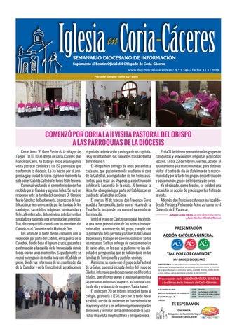 Semanario Iglesia Coria Caceres 2019 03 03 By Obispado De Coria