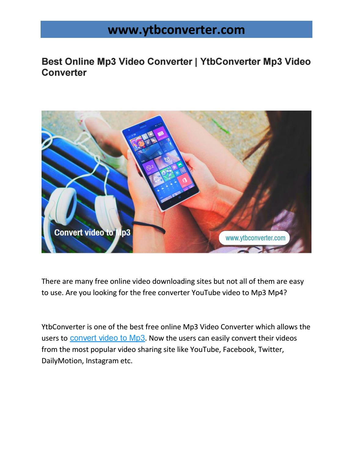 Best Online Mp3 Video Converter | YtbConverter Mp3 Video Converter