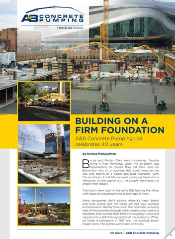 A & B Concrete Pumping Profile by Business in Edmonton Magazine - issuu