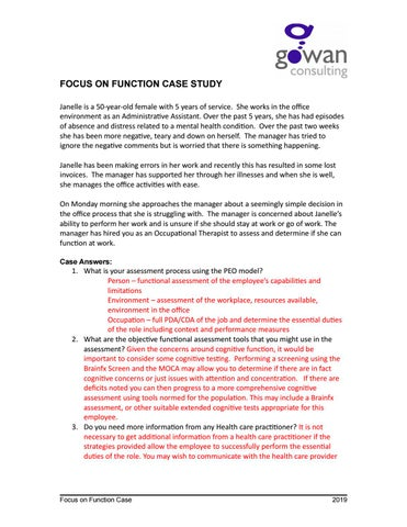 February Case Study - Focus on Function by Gowan Health - issuu