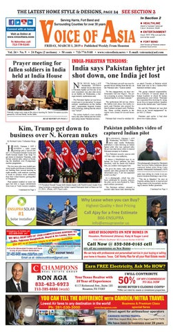 Voice of Asia E-paper March 1, 2019 by VoiceOf Asia - issuu