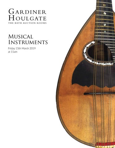 Musical Instruments - Friday 15th March 2019 by Gardiner Houlgate