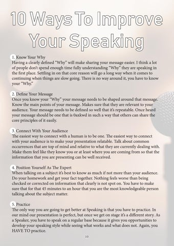 Page 10 of 10 Ways To Improve Your Speaking