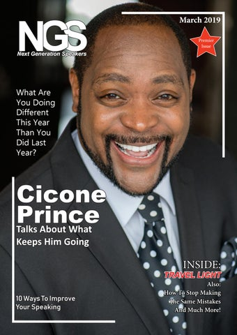Page 1 of Cicone Prince Talks About What Keeps Him Going