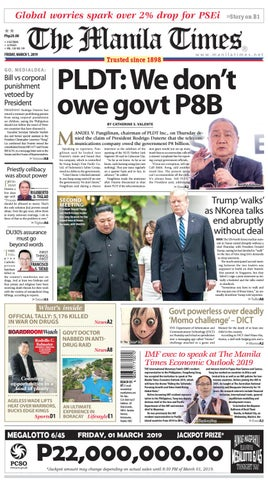 THE MANILA TIMES | MARCH 01, 2019 by The Manila Times - issuu