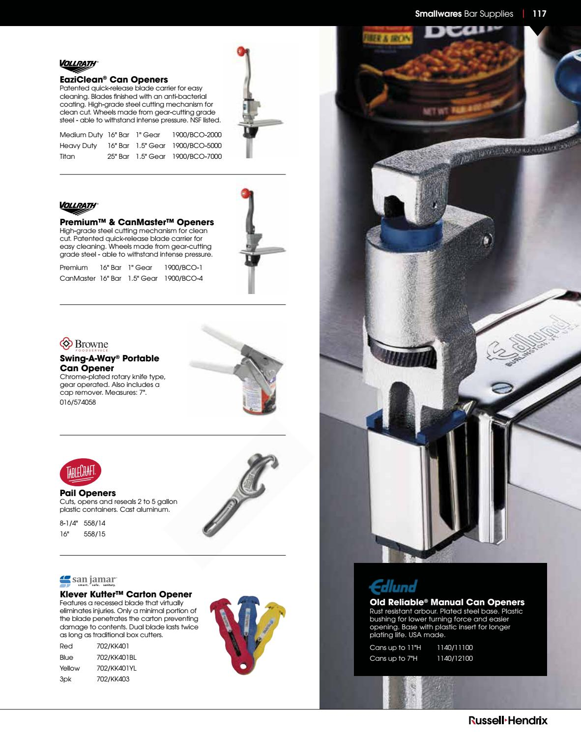 Russell Hendrix Smallwares Catalogue by Russell Hendrix Foodservice