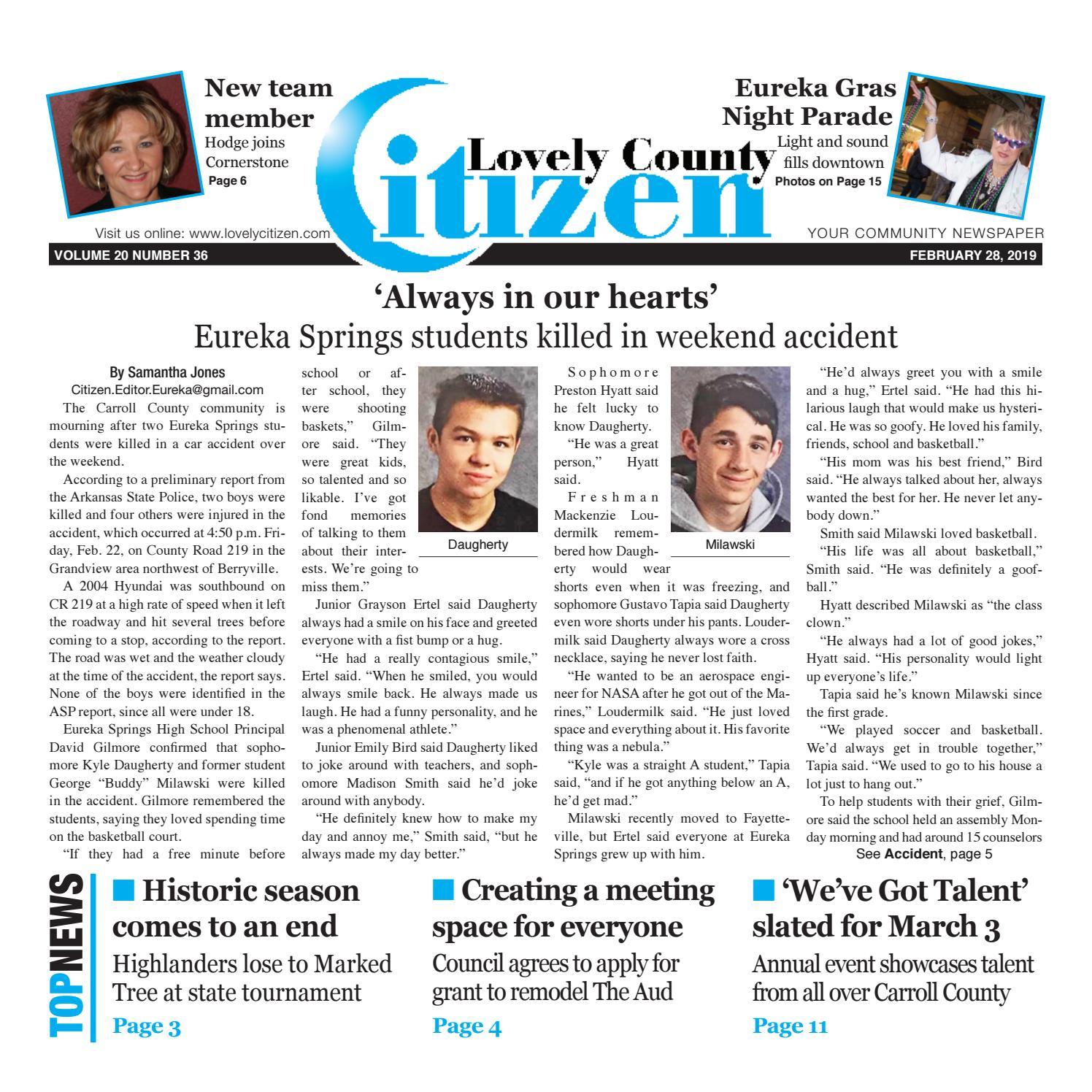 Lovely County Citizen Feb  28, 2019 by Lovely County Citizen