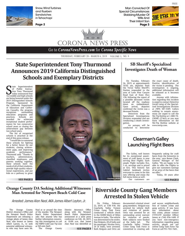 Corona News Press - 02/28/2019